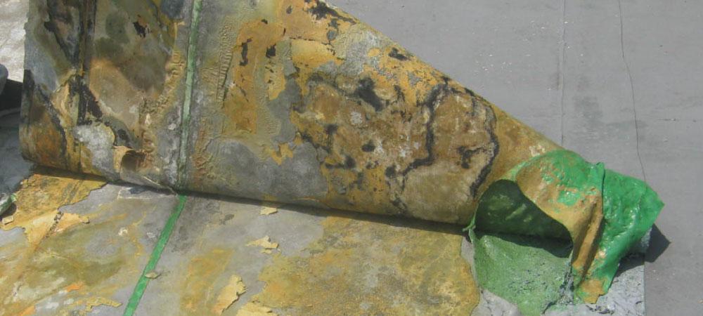 ベランダウレタン防水の雨漏り